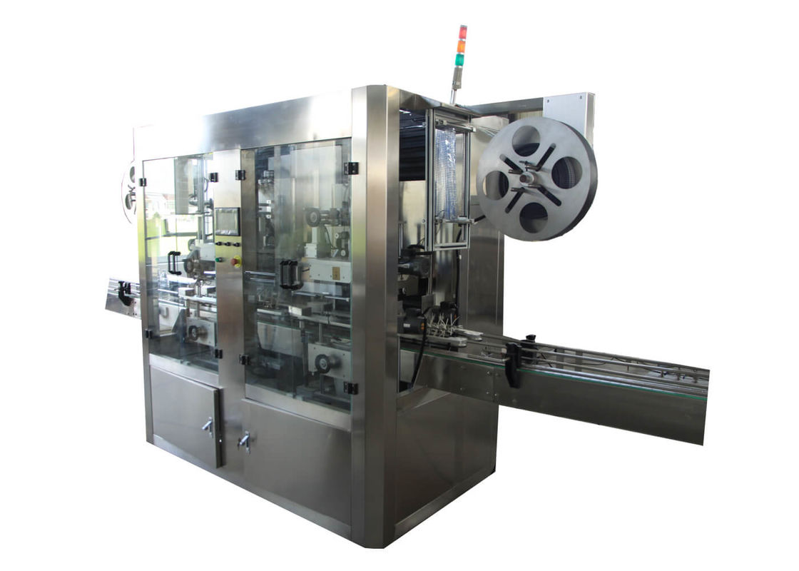 Fully Automatic Round/Square Bottle PVC Film Double Heads Sleeve Labeling Machine for Bottle Packaging