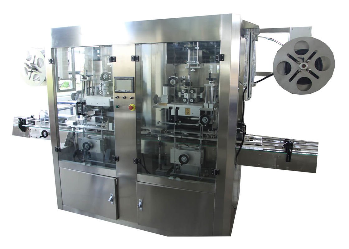 Fully Automatic High Speed Double Heads PVC Film Sleeve Labeling Machine for Plastic Bottle