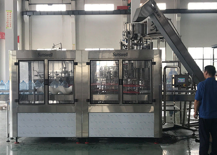 ISO Water Filling Machines With Rinsing Capping , Water Bottling Equipment