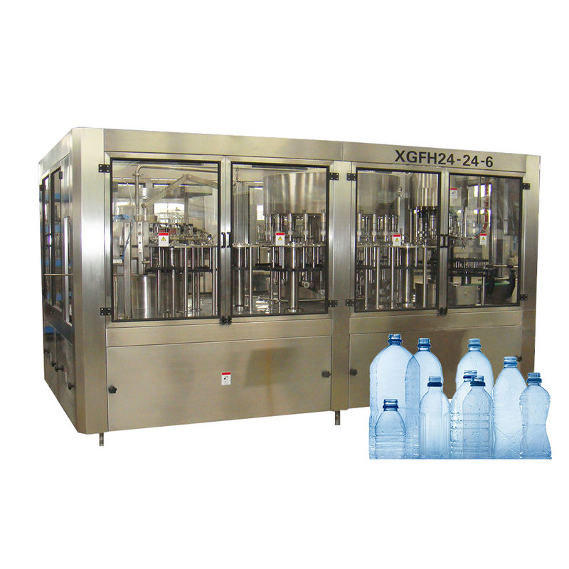 Rotary Type 3 In 1 Big Bottle Filling Machine For Non Gas Liquid With Automatic Control
