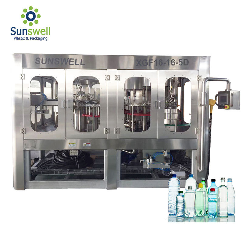 Pure Water Mineral Water Filling Machines Washer Capper Function 3 In 1 For Littler Bottle