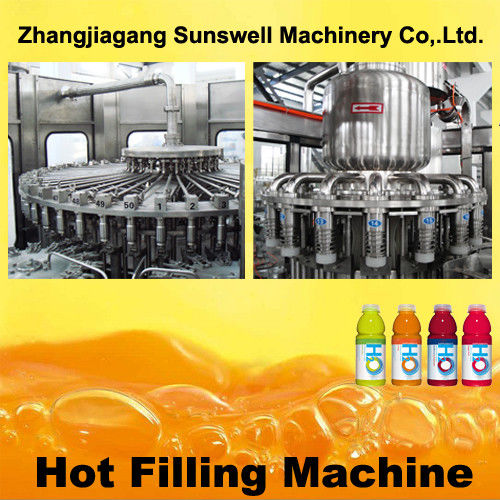 PET Bottle Hot Filling Machine 5000BPH - 20000BPH With 500 L/Min Air Consumption