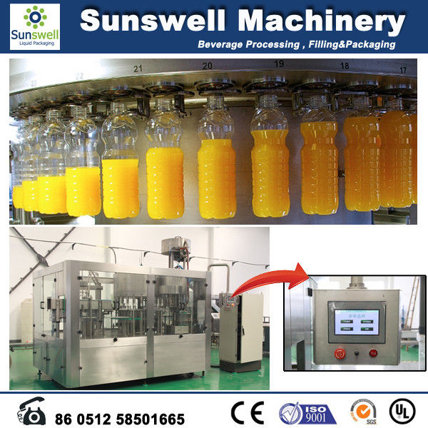Small Capacity Hot Filling Machine 3 In 1 Automatic With Rotary Rinser
