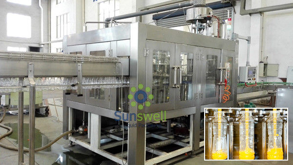 High Capacity 500ml Hot Filling Machine Plastic Bottled Gravity Filling